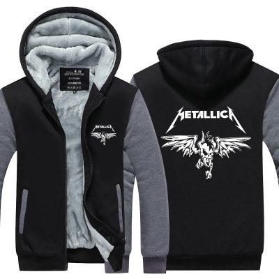 Anime Metallica cosplay wing Hooded Thick Zipper Men Sweatshirts Jackets Coats Winter hoodie Sweatshirts Leisure Free shipping