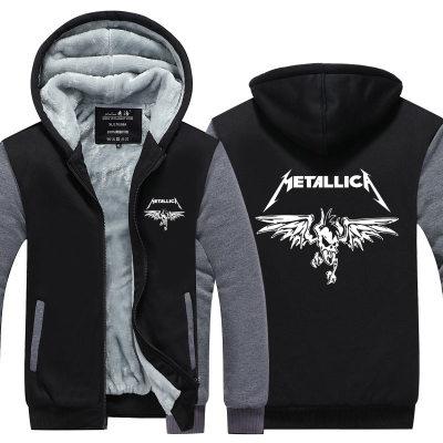 Anime Metallica cosplay wing Hooded Thick Zipper Men Sweatshirts Jackets Coats Winter hoodie Sweatshirts Leisure Free shipping
