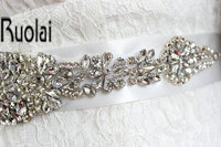 4cm 270cm 2016 New White Crystal Rhinestone Beaded Embellishment Waist Belt Wedding Bridal Sash Women Costume