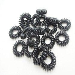 Bandes élastiques pour cheveux, couleur aléatoire gomme, fil de téléphone, attaches, Bracelets en caoutchouc, élastique pour queue de cheval, accessoires pour cheveux, 30 pièces