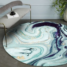 Fashion modern abstract Colorful starry sky Thick round printed carpet Hotel living room bedroom office cafe floor Non-slip mat