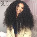 300% Density Kinky Curly Full Lace Human Hair Wigs Brazilian Full Lace Wigs Curly Lace Front Wig For Black Women with Baby Hair