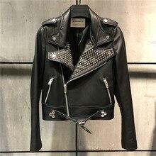 genuine leather jacket women real sheepskin blazer
