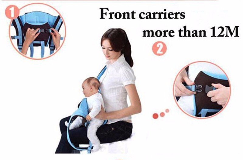 0-30 Months Breathable Front Facing Baby Carrier 4 in 1 Infant Comfortable Sling Backpack Beige One size 8