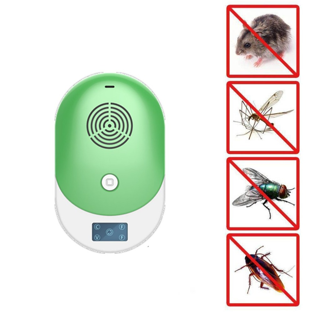 Electronic Pest Control Ultrasonic Pest Repeller Home Anti Mosquito Repellent Killer Rodent Bug Reject Mole Mice EU/US/UK