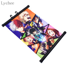 Lychee My Hero Academia Scroll Painting Japanese Anime Wall Hanging Poster Canvas Poster Home Art Decoration