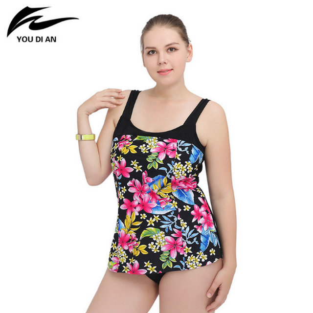 7290faec309 2018 New Sexy One Piece Swimsuit Print Floral Plus Size Swimwear Women  Straps Swimming Suit Cover