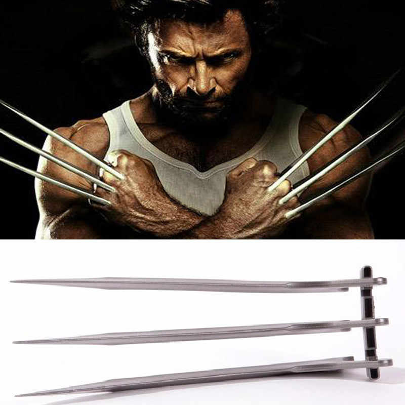 2pcs/Set  1:1 X-Men Wolverines Logan Claws Cosplay Blade Prop Super Hero Paw Weapons Model Gift Toy 25cm