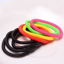 30 pcs Gum Telephone Wire Elastic Silicone Hair bands Hairband Hair Accessories For Women Girls elastico