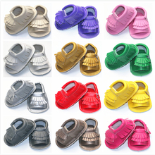 Summer Style Soft Bottom Fashion Tassels Baby PU Fringe Newborn Babies Shoes 16-colors PU leather Prewalkers Boots 0-30M