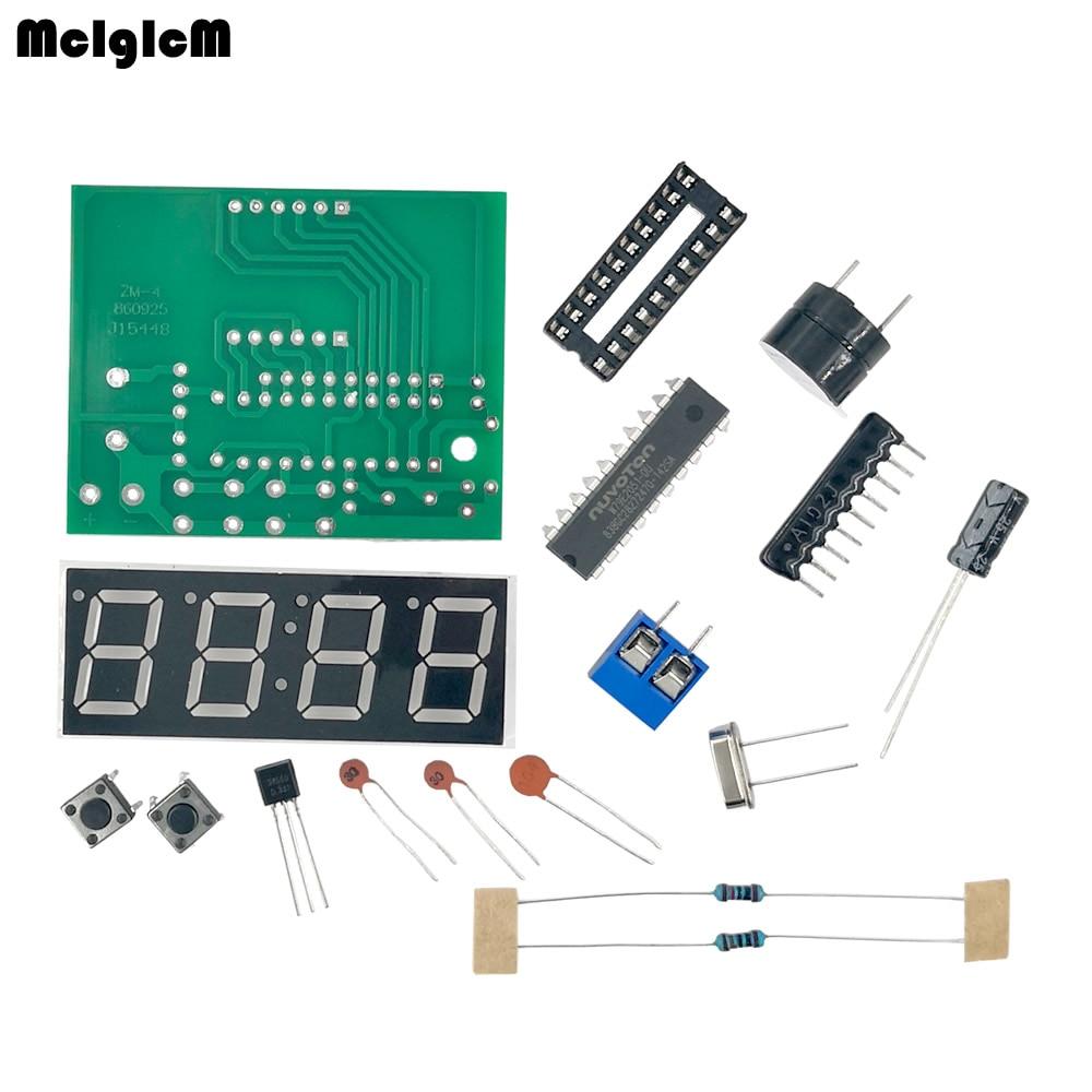 Qualité supérieure 100 Ensembles C51 4 Bits horloge électronique Électronique Suite de Production bricolage Kits C51 horloge électronique