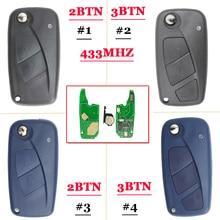 Free Shipping ( 1pcs )2Button /3 button 433MHZ Remote Key for FIA 500 Panda Punto Bravo Delphin Key PCF7946 chip free shipping 5pcs lot nb11 universal multi functional kd remote 3 button nb series key for kd900 urg200 remote master