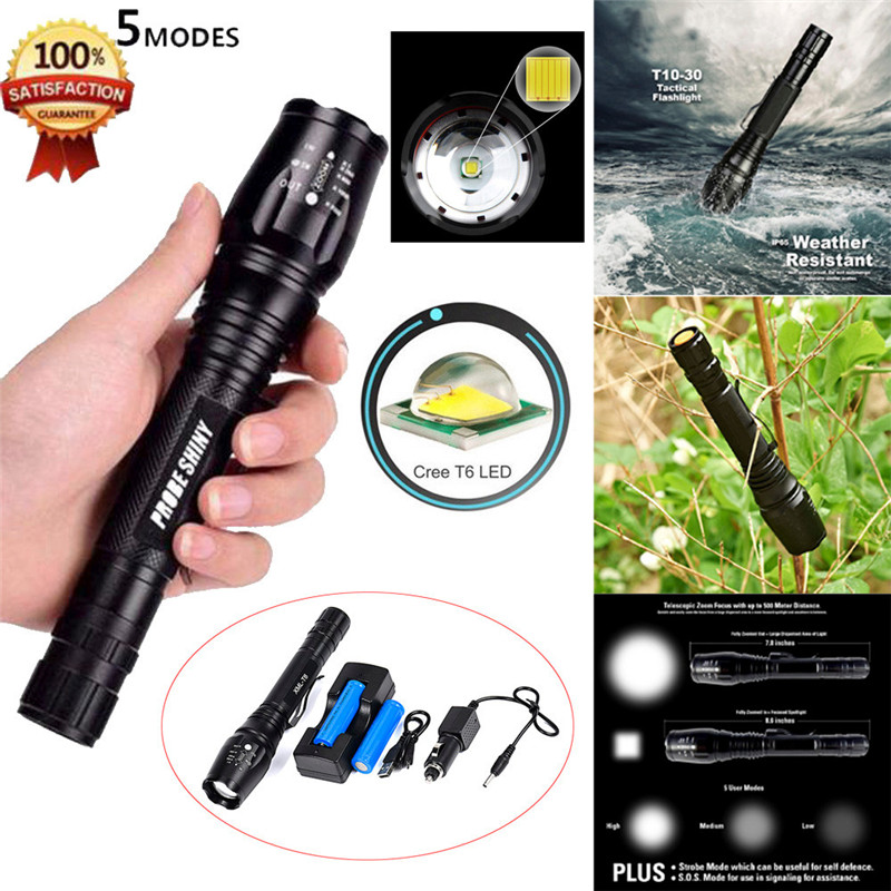 Cycling Bicycle Bike Front Head Light Zoomable XML T6 LED Tactical Flashlight 18650 Battery+Charger Outdoor Camping Hiking M25 origial jetbeam rrt 2 cree u2 led tactical flashlight for camping hunting hiking fishing bicycle tactical torch w 18650 battery