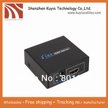 KUYiA Free shipping+High Quality 2port HDMI Amplier HDMI Splitter 1x2 HDMI Split