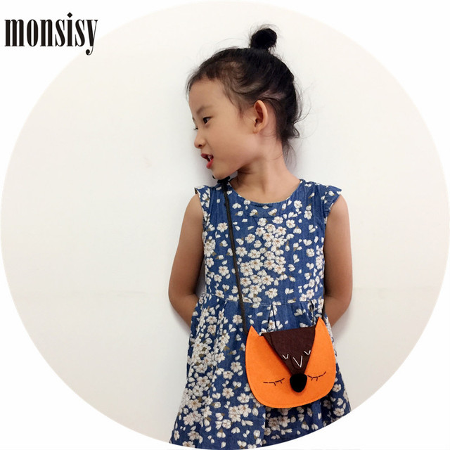 Monsisy Christmas Girl Coin Purse and Handbag For Children Wallet Cartoon Fox/Bear/Rabbit/Elephant Baby Boy Shoulder Bag Gift