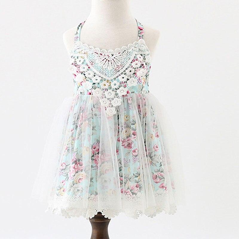 2017 Baby Mädchen Boutique Kleid Mädchen Floral Spitze Sleeveless Sommer Ballkleid Kleider, Prinzessin Fairy Tulle Party Tanzkleid Eine GroßE Auswahl An Modellen