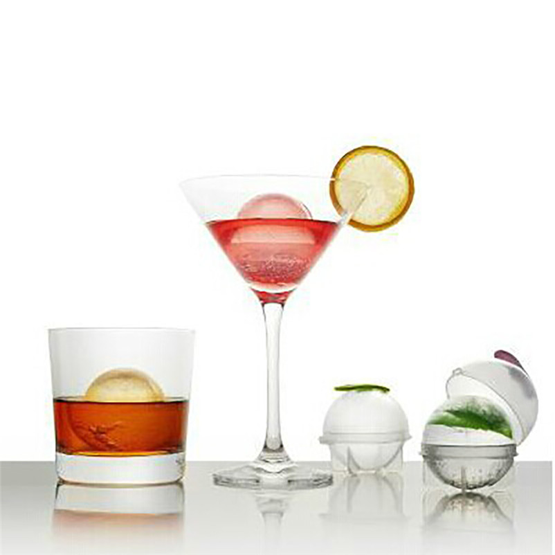 Round Ice Cube Ball Maker Sphere Molds For Whisky Party Cocktails Set of 4 Gift High Qulity Hot Sale Dropshipping R30