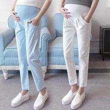 ae8599b83 De alta calidad de maternidad vientre pantalones casuales pantalones de embarazo  ropa Plus tamaño primavera y verano ropa para m.