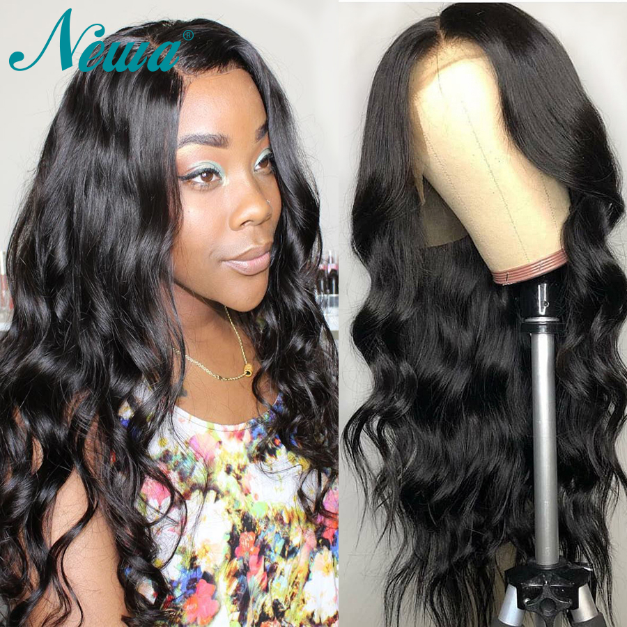 NYUWA Lace front Wigs Wavy Remy Hair Lace Front Human Hair Wigs Pre Plucked With Baby Hair Brazilian Lace Wigs For Black Women-in Human Hair Lace Wigs from Hair Extensions & Wigs