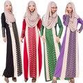 2015 Мусульманин абая платье для женщин Исламского платья дубай кафтан Исламская одежда Мусульманская абая Платье турецкий джилбаба хиджаб 020