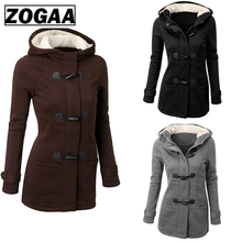 Hot Style Size Women's Jacket with Long Sleeve Jacket with Button Pocket and Hoodie недорого