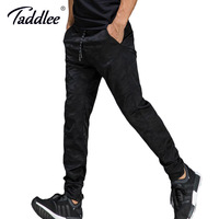 Taddlee Brand Jogger Sports Running Pants Men's Slim Fit Basic Flat Front Black Ankle Trousers GYM Skinny Bottoms Sweatpants New