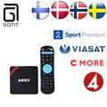 A95X IPTV Android 5.1 Caixa De TV Amlogic S905 Escandinavos Suécia Noruega Europa REINO UNIDO Turco Árabe Russo Alemão IPTV Set-Top Box