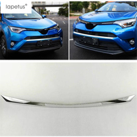 Lapetus Accessories For Toyota Rav4 Rav 4 2016 2017 2018 Front Head Bottom Bumper Protector Plate Molding Cover Kit Trim 1 Piece