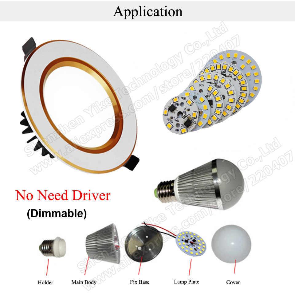 10pcs ac 220v led pcb SMD2835 3w 5w 7w 9w 12w 15w ic driver, ลูกปัด Led สมาร์ท IC SMD แหล่งกำเนิดแสง Led สำหรับหลอดไฟ LED