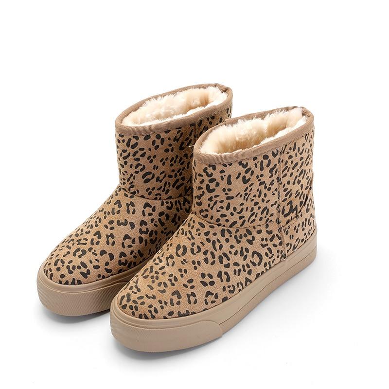 12208d65365 Caliente Super Leopardo Invierno Las Botas Marrón Mujeres naranja Tobillo  Gamuza De Para Mujer Zapatos Nieve xgxYUAT