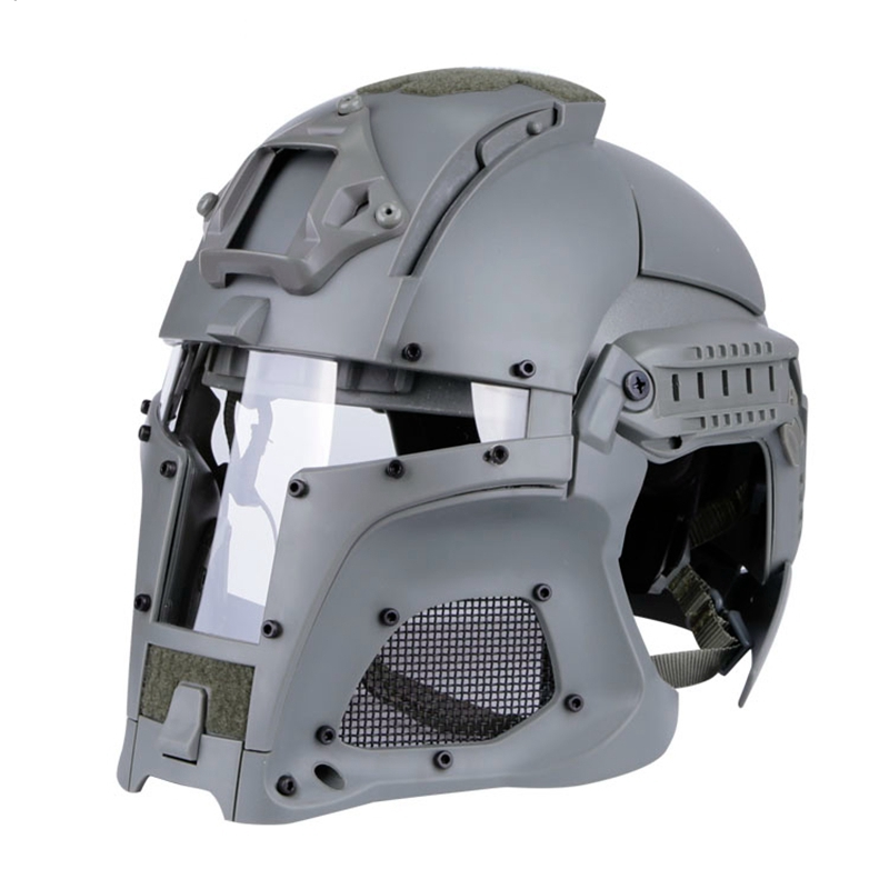 戦術的な屋外ヘルメットフルフェイス通気性 CS 狩猟軍事陸軍エアガン保護効果的なフェイスガード  グループ上の スポーツ & エンターテイメント からの ヘルメット の中 1