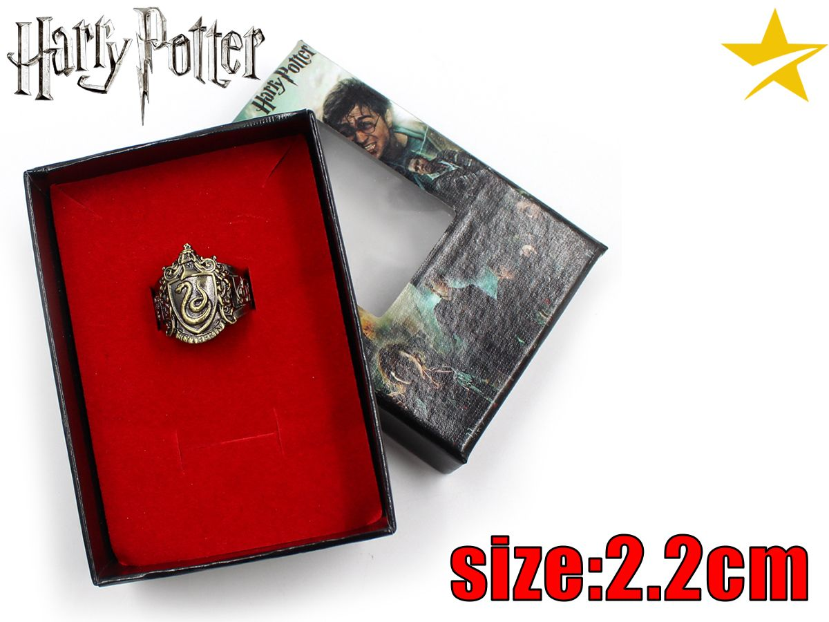 Giancomics Hot Movie Harri Potter Alloy Ring Bronze Metal Ring Finger Ring Ornament Souvenir Jewelry Otaku Costume Pendants Gift