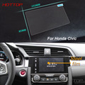 HOTTOP Car Styling 7 Inch GPS Navigation Screen Steel Protective Film  For HONDA Civic Control of LCD Screen Car Sticker