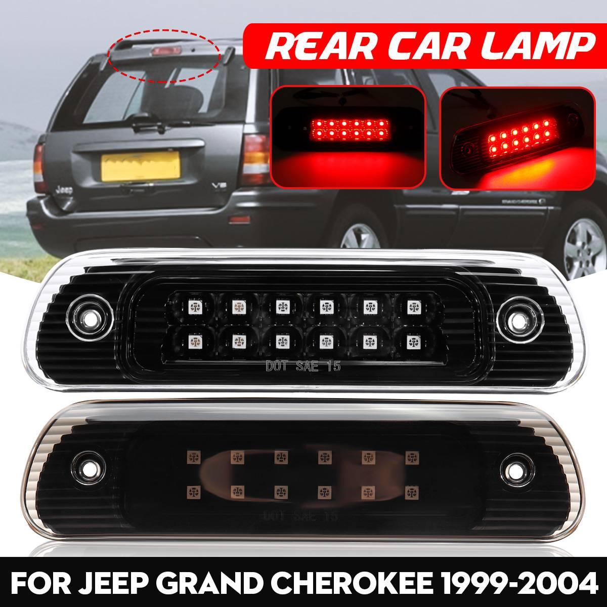 cauda traseira do carro led hight break light stop lampada fumaca clara para jeep grand cherokee