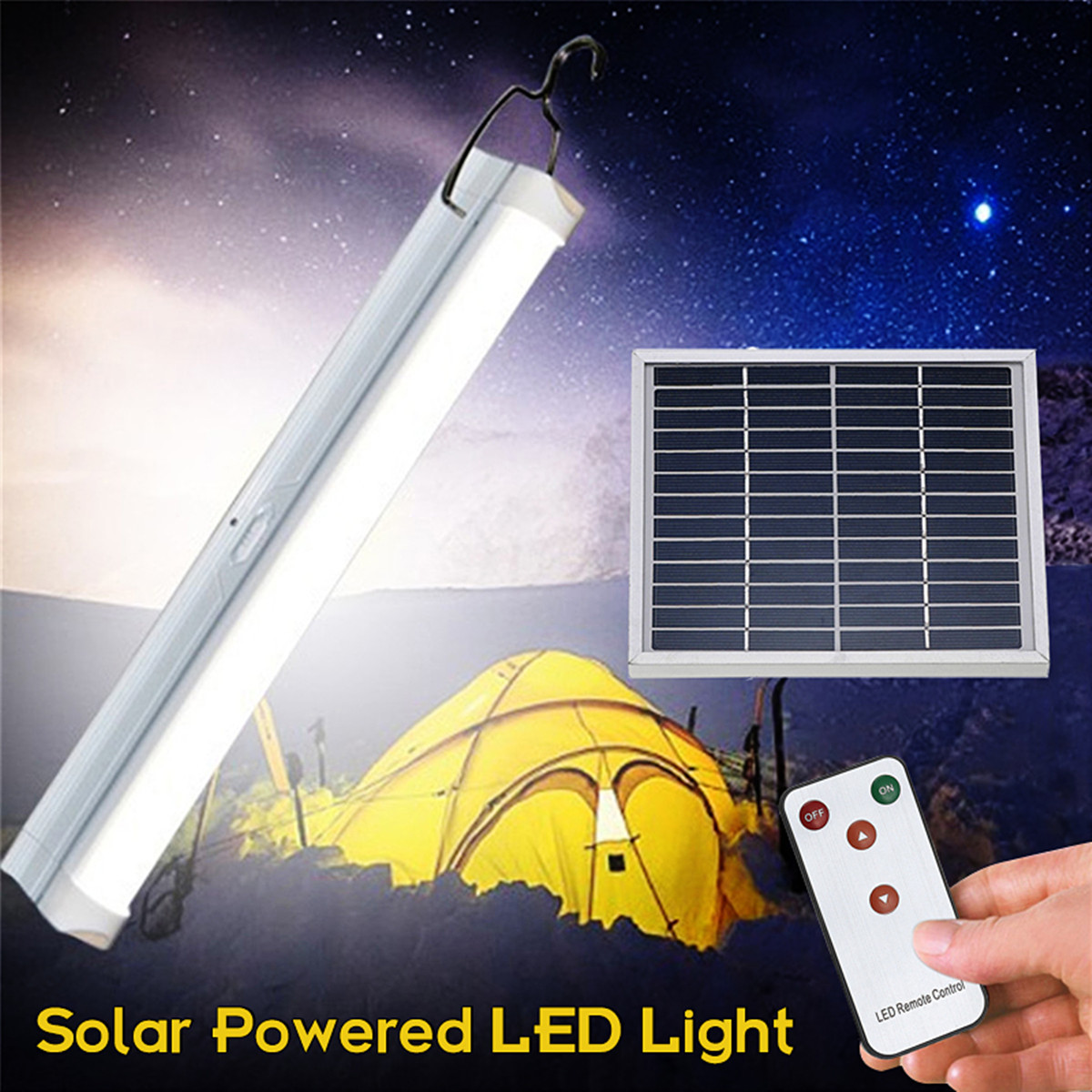 Solar Powered Lights 30 LED Bulb Outdoor Garden Solar Light Floodlight With Remote Control Camping Emergency Lighting Lamp 3 7v 1000mah 22 led remote control solar lamp hooking camp garden lighting outdoor indoor m25
