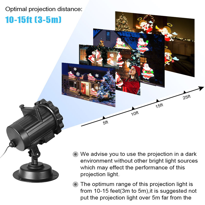 Christmas Animated Courtyard Projection Light Switchable Patterns Slides Landscape Motion Projector Lights with Remote Control informotion animated infographics