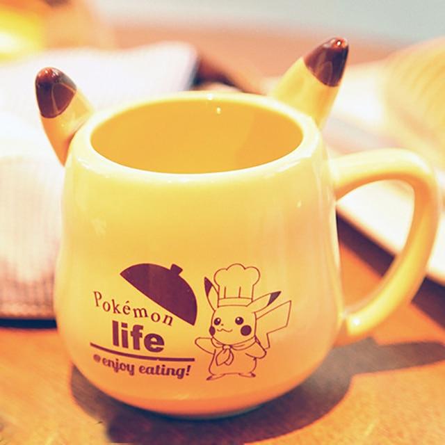 Mug Anime Game Pokemon Pocket Monsters Pikachu Milk Mugs Ceramic Coffee Cup Espresso Cups