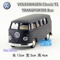 Rmzcity 1:36 diecast car model/simulación: volkswagen t1 bus de transporte/tire hacia atrás juguetes para niños de regalo/colección/educativos
