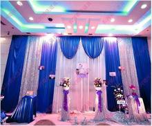 Free DHL Wedding Backdrop Props 3 6m Sequins Edge Fabric Satin Drape wedding Backdrop Curtain Party