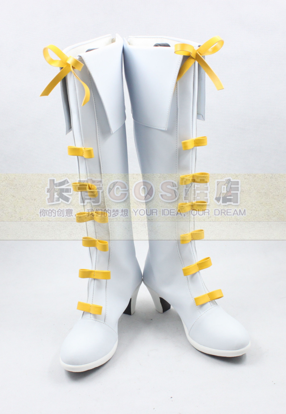 The Legend of Heroes Sora no Kiseki Elie MacDowell White Girls Long Cosplay Shoes Boots C006