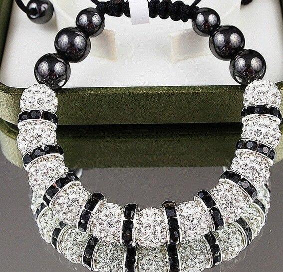 10mm Disco Ball ONW White handmade Crystal crystal Bracelet Jewelry For Women Men.