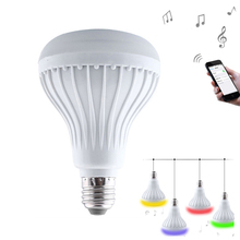 WJ-L2C E27 B22 6W RGB LED Light Bulb Bluetooth Speaker Led Lamp Stereo Audio APP Remote Control for iPhone & Android Phone