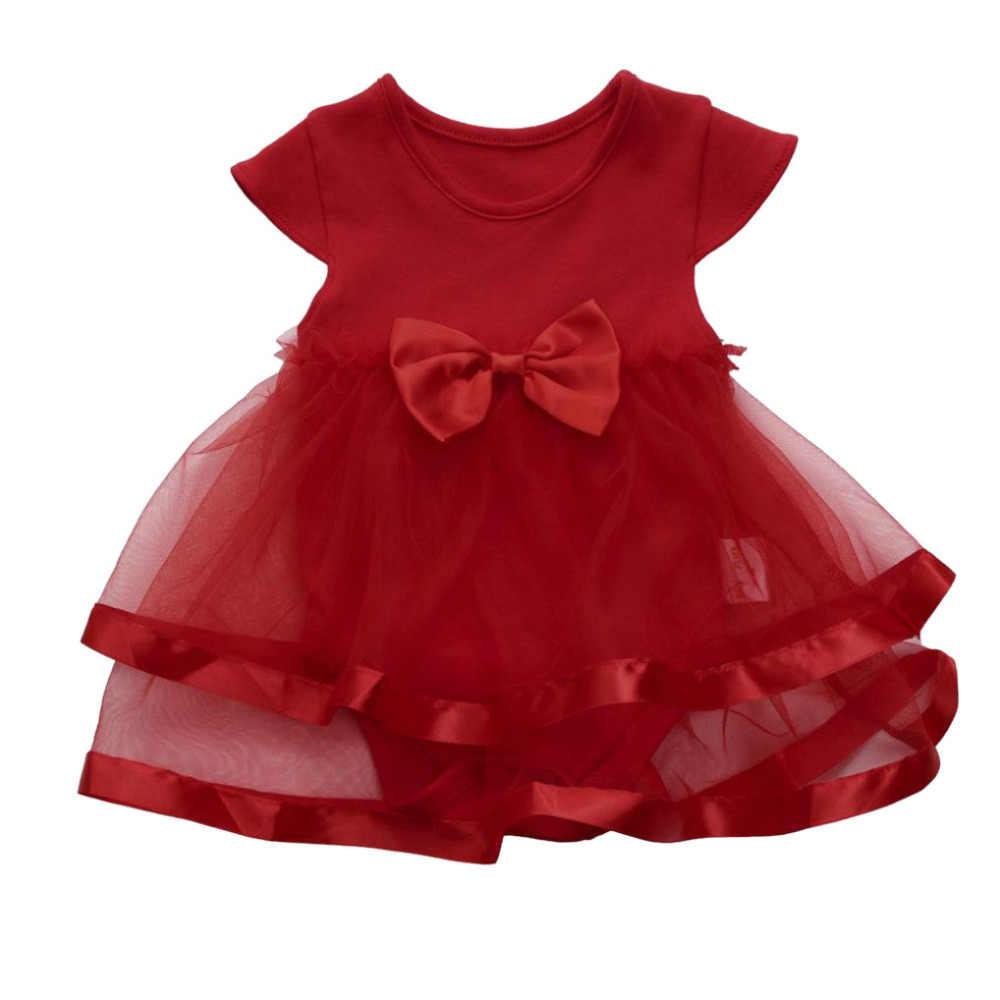 תינוק ללא שרוולים קשת הדפסת נסיכת שמלת קיץ בגדי ילדים פיצוץ 2020 חדש קשת בגדי תינוק בנות בגדים # YL1