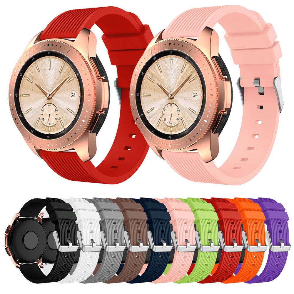 Smart Accessories 20mm Wrist Band For Samsung Gear Sport S2 Silicone Replacement Band Strap For Samsung Galaxy Watch 42mm Band image