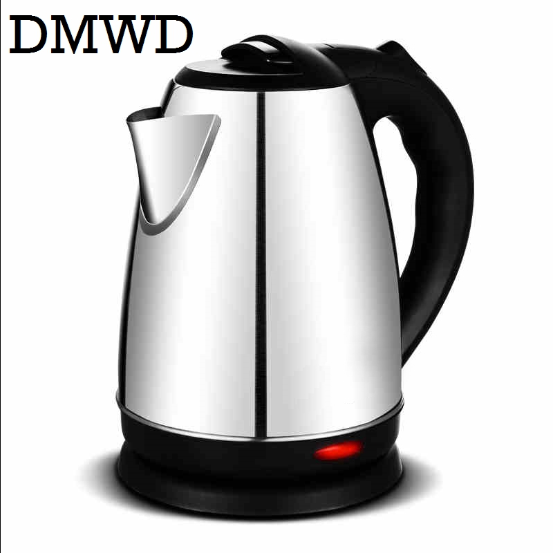 DMWD Split Style Stainless Steel Quick Heating Auto Electric Kettle Hot water boiler tea pot heater teapot EU US plug 1500w 1.8L dmwd 110v multifunction electric skillet stainless steel hot pot noodles rice cooker steamed egg soup pot mini heating pan