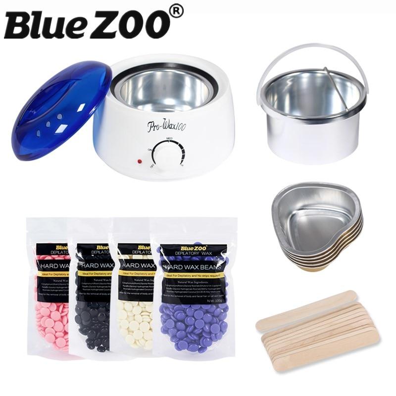 Waxing Depilatory Wax Set Paraffin Heater Hot Film Wax Beans 100g + Wooden Sticks + Melting Bowl Body Hair Removal Kit наружная антенна d color dca 719a