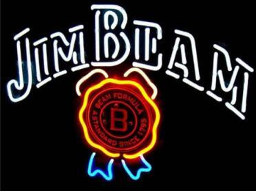 Custom Jim Beam Glass Neon Light Sign Beer Bar