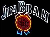 Niestandardowe Jim Beam szkło znak światła Neon Beer Bar w Żarówki i oprawy neonowe od Lampy i oświetlenie na