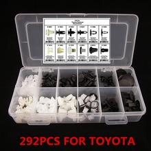 Интерьер автомобиля push автомобильной толчок фиксатор Pin заклепки отделкой клип литье ассортимент 292 шт. 12 различных размеров для Toyota Mazda