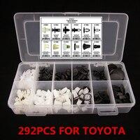 Car Interior Push Automotive Push Retainer Pin Rivet Trim Clip Moulding Assortment 292PCs 12 Different Sizes